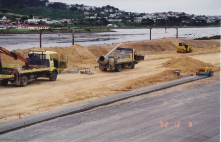 <p>Porirua off ramps/Motorway 1992.  Powell Kerbing</p>